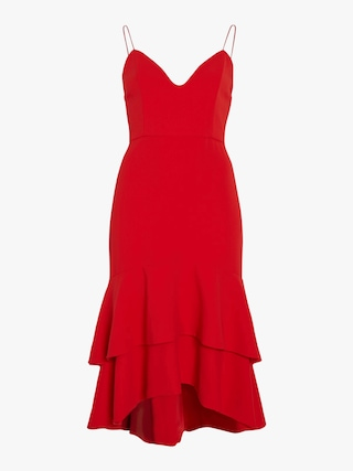 Amina Plunging Sweetheart Fitted Dress