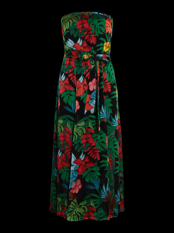 Mazie Strapless Tea Length Dress