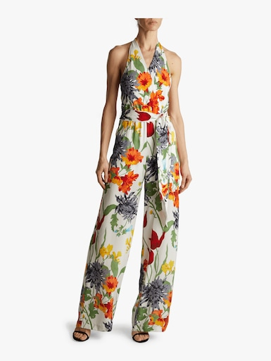 Cyprus Wrap Top Belted Jumpsuit