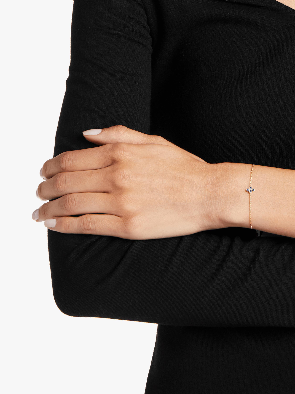 Tarakini Four Stone Fine Chain Bracelet