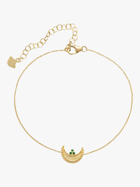 Heritage Crescent Fine Chain Bracelet