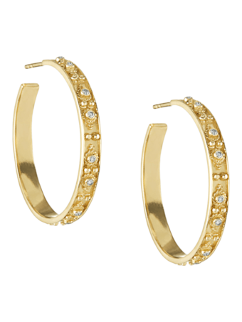 Heritage Halo Hoop Earrings