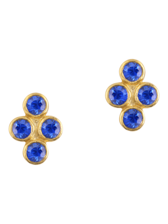 Tarakini Four Stone Post Earrings