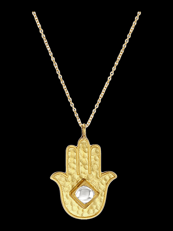 Kundan Vintage Diamond Hamsa Necklace