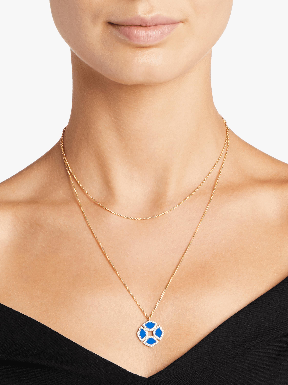 Manjari Lotus Pendant Necklace