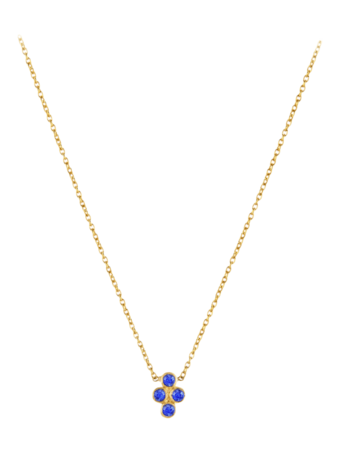 Tarakini Four Stone Pendant Necklace