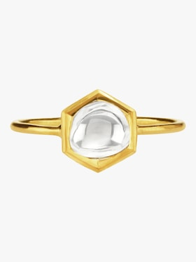 Kundan Vintage Diamond Hexagon Ring