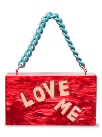 Love Me Block Letter Jean Clutch