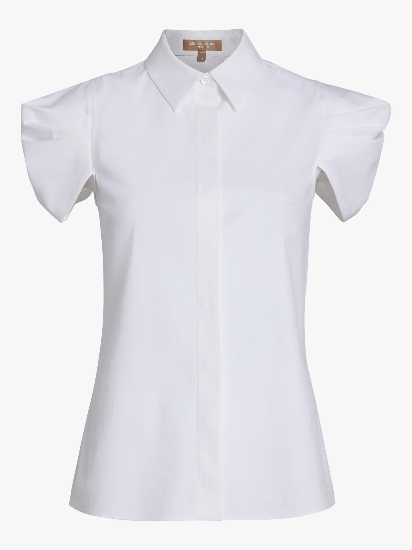 Draped Button Down Shirt