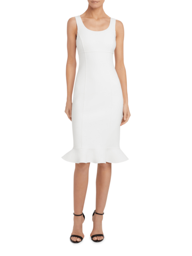Ruffle Hem Sheath Dress