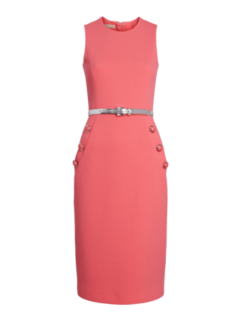 Belted Sheath Dress