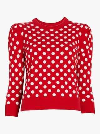 Coin Dot Intarsia Starlet Sweater