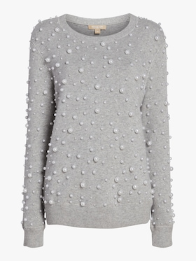 Pearl Embroidered Sweatshirt
