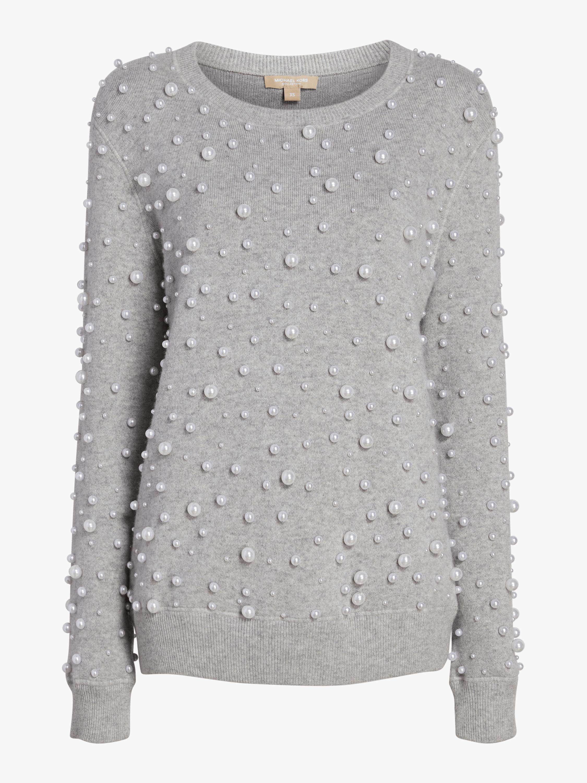Pearl Embroidered Sweatshirt