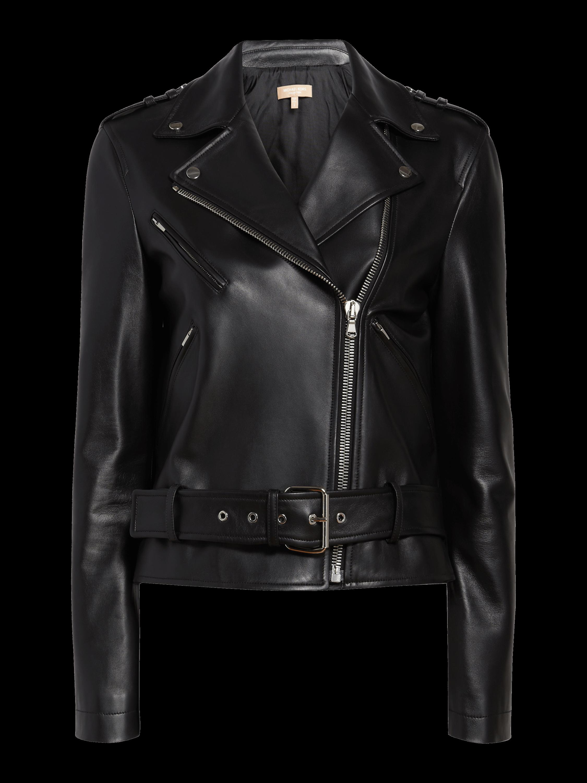 Ruffle Sleeve Moto Jacket