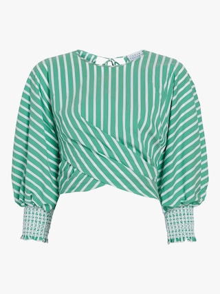 Chioma Striped Poplin Top