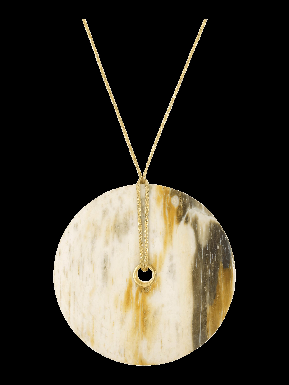 Burmese Wood Disk Pendant
