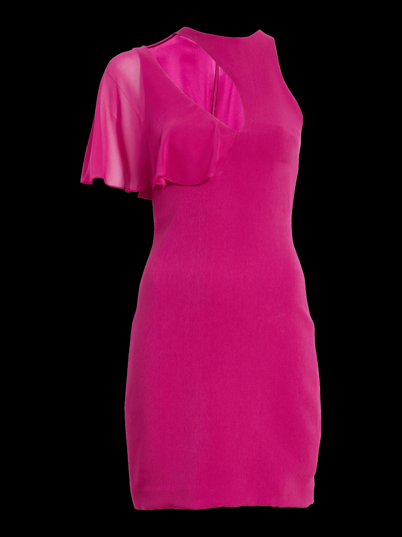 Mini Flutter Sleeve Cut-Out Dress