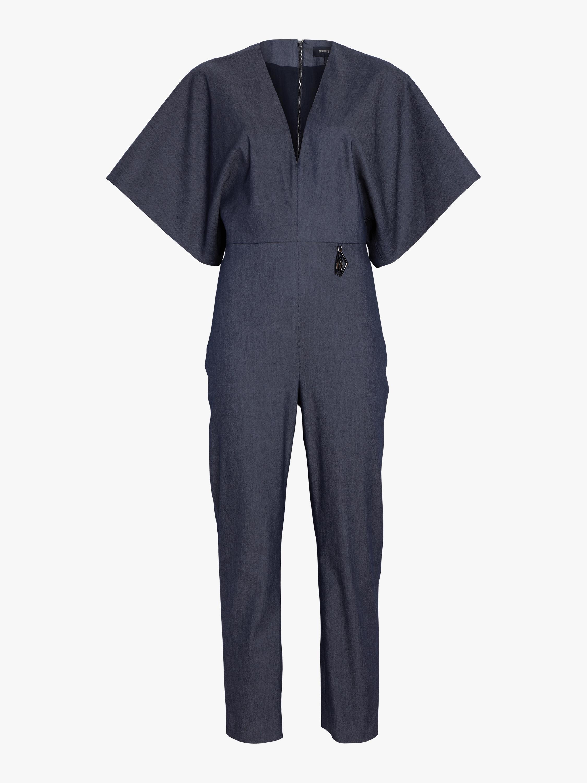 Cushnie Kimono Sleeved Deep-V Jumpsuit 1