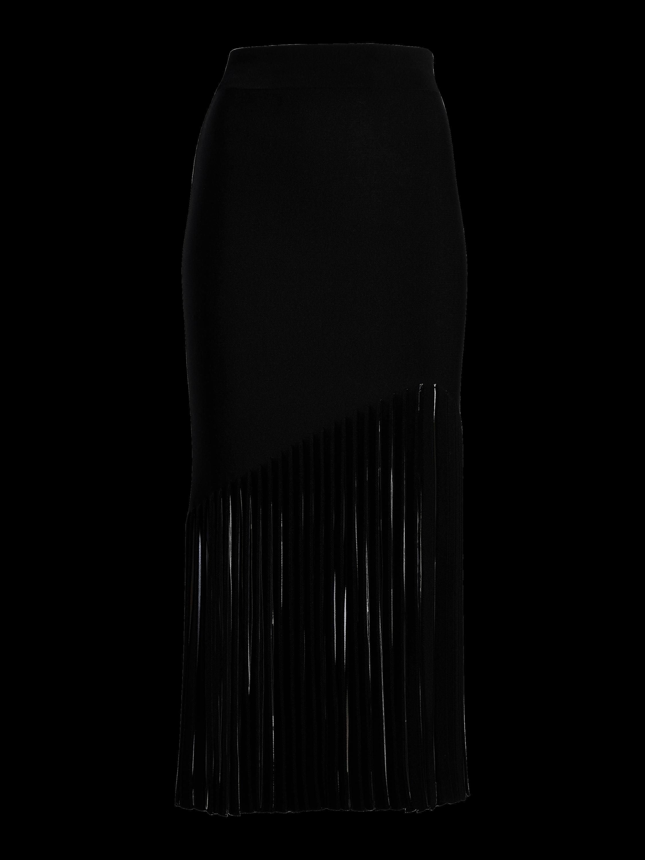 High-Waist Fringe Skirt