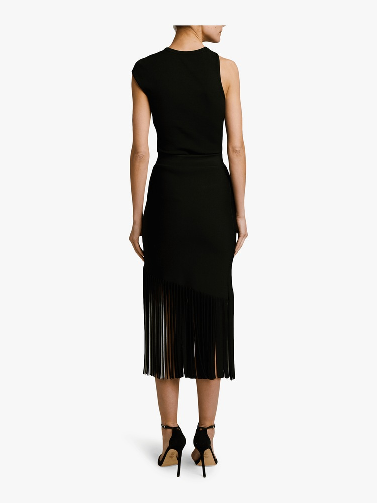 High-Waist Fringe Skirt Cushnie