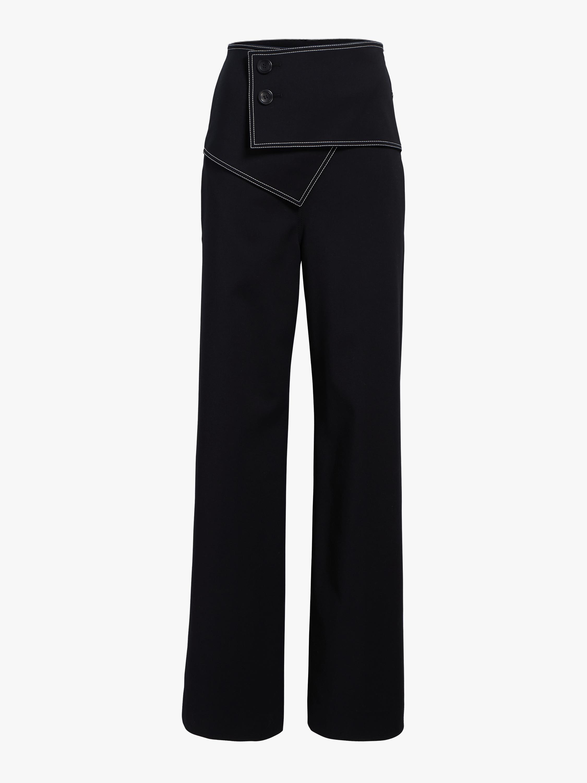 Foldover Waist Flare Trousers
