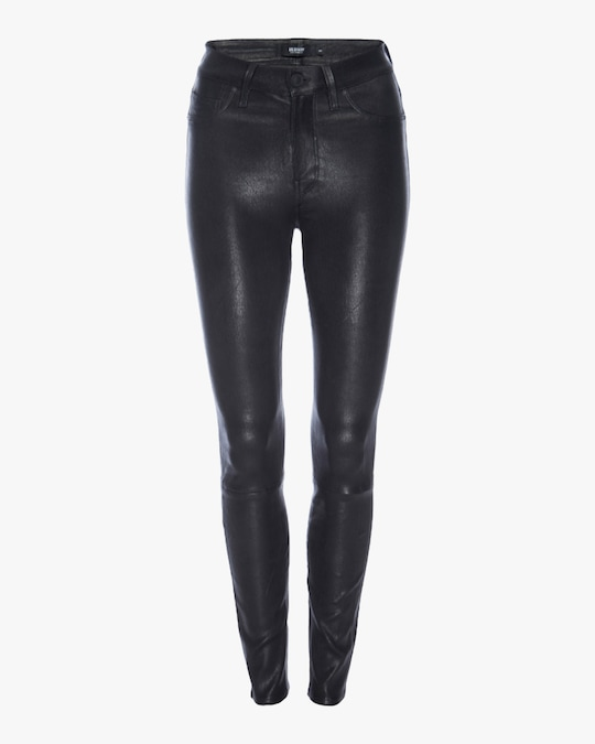 Hudson Barbara High-Waist Super-Skinny Leather Pants 0