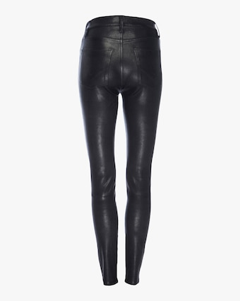 Hudson Barbara High-Waist Super-Skinny Leather Pants 2