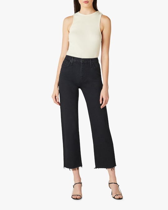 Hudson Remi High-Rise Cropped Straight Jeans 0