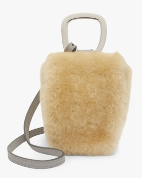 Brown Amber Faux Fur Pablo Bag
