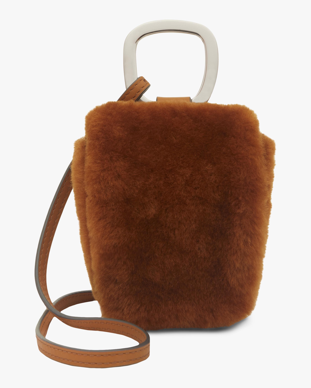 Danse Lente Caramel Faux Fur Pablo Bag 0