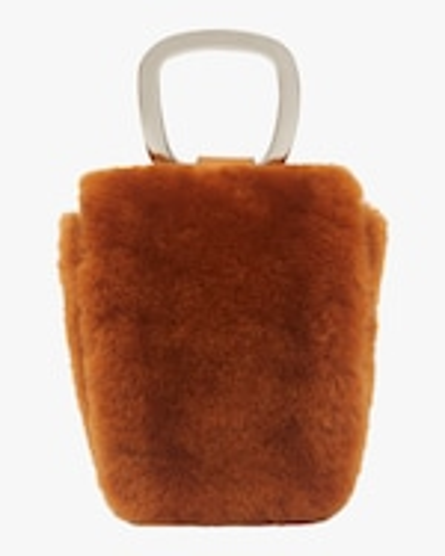 Danse Lente Caramel Faux Fur Pablo Bag 4