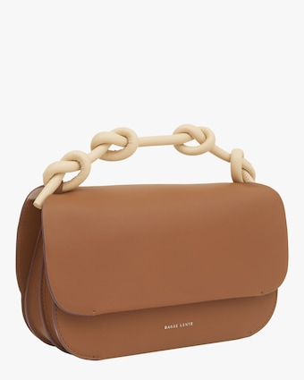 Danse Lente Brown Lea Knot Bag 2