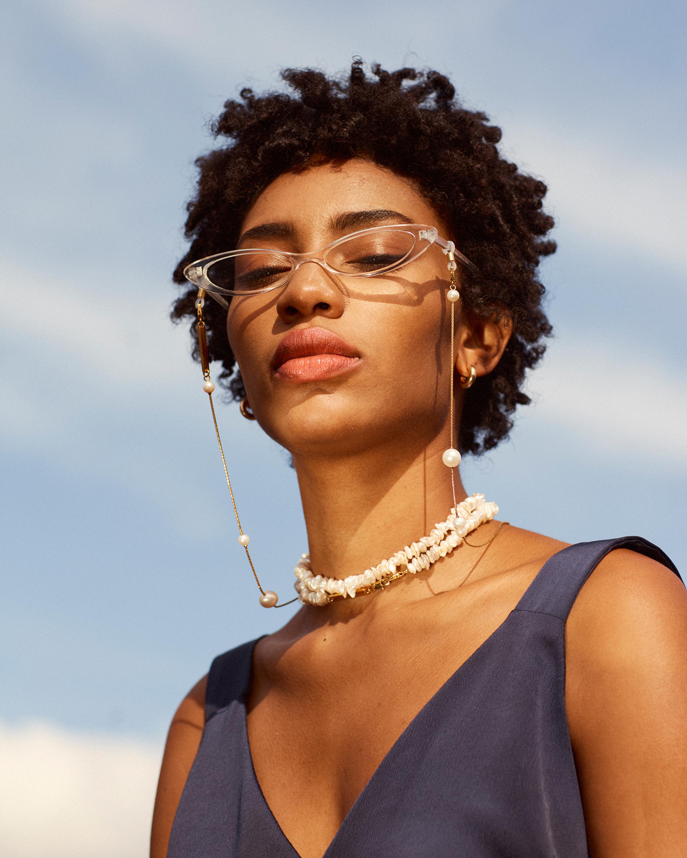 Frame Chain Pinky Pearl Eyewear Chain 2