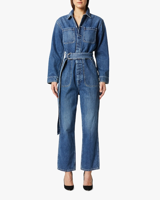 Hudson Denim Utility Cropped Jumpsuit 0
