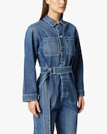 Hudson Denim Utility Cropped Jumpsuit 4