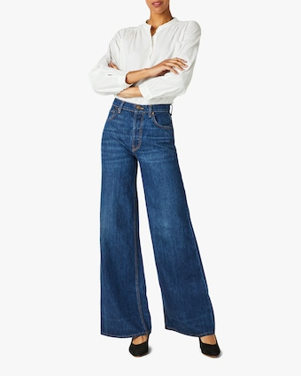 Hudson Nora High-Rise Wide-Leg Jeans 1