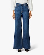 Hudson Nora High-Rise Wide-Leg Jeans 0