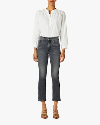 Hudson Holly High-Rise Cropped Bootcut Jeans 1