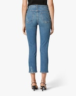 Hudson Barbara High-Waist Cropped Straight Jeans 2