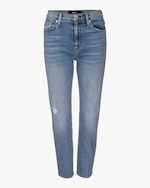 Hudson Barbara High-Waist Cropped Straight Jeans 0