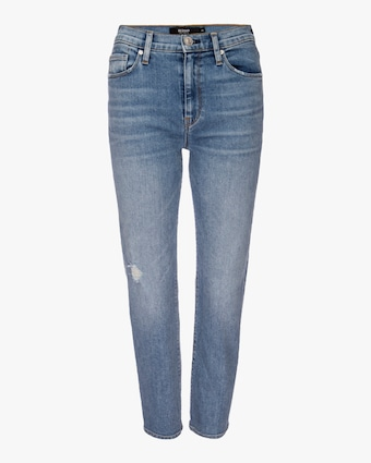 Hudson Barbara High-Waist Cropped Straight Jeans 1