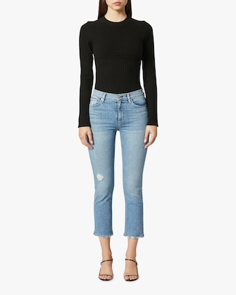 Barbara High-Waist Cropped Straight Jeans