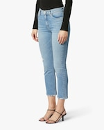 Hudson Barbara High-Waist Cropped Straight Jeans 4