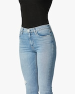 Hudson Barbara High-Waist Cropped Straight Jeans 5