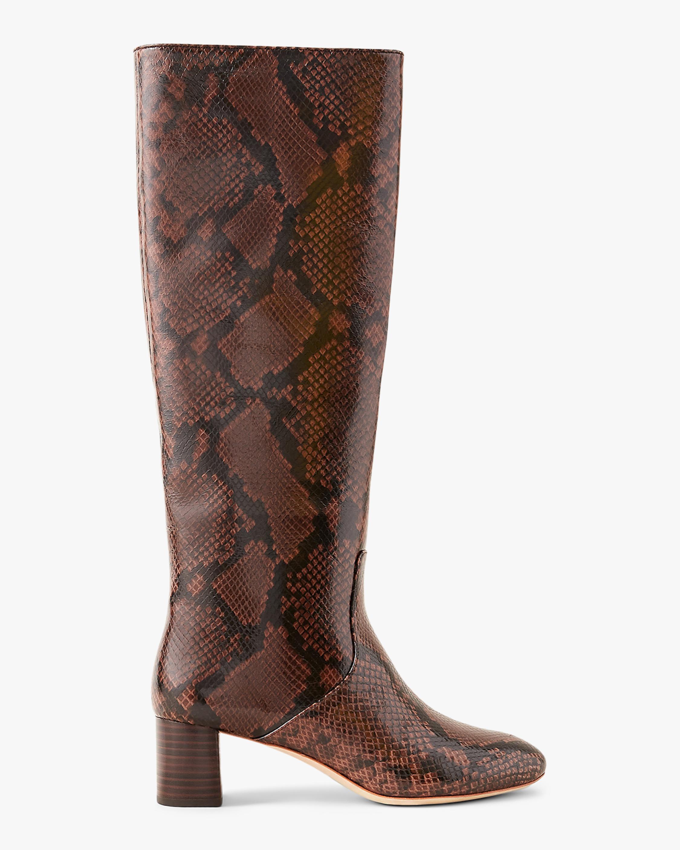 Loeffler Randall Snakeskin Mocha Gia Tall Boot 0