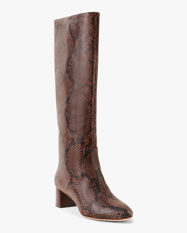 Loeffler Randall Snakeskin Mocha Gia Tall Boot 2