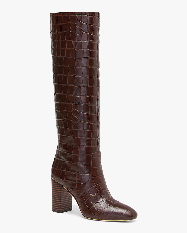 Dark Brown Goldy Tall Boot