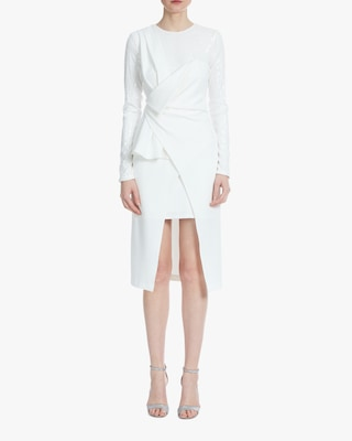 One33 Social Drape-Front Crossover Dress 1