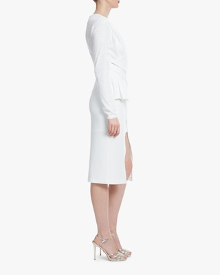 One33 Social Drape-Front Crossover Dress 2